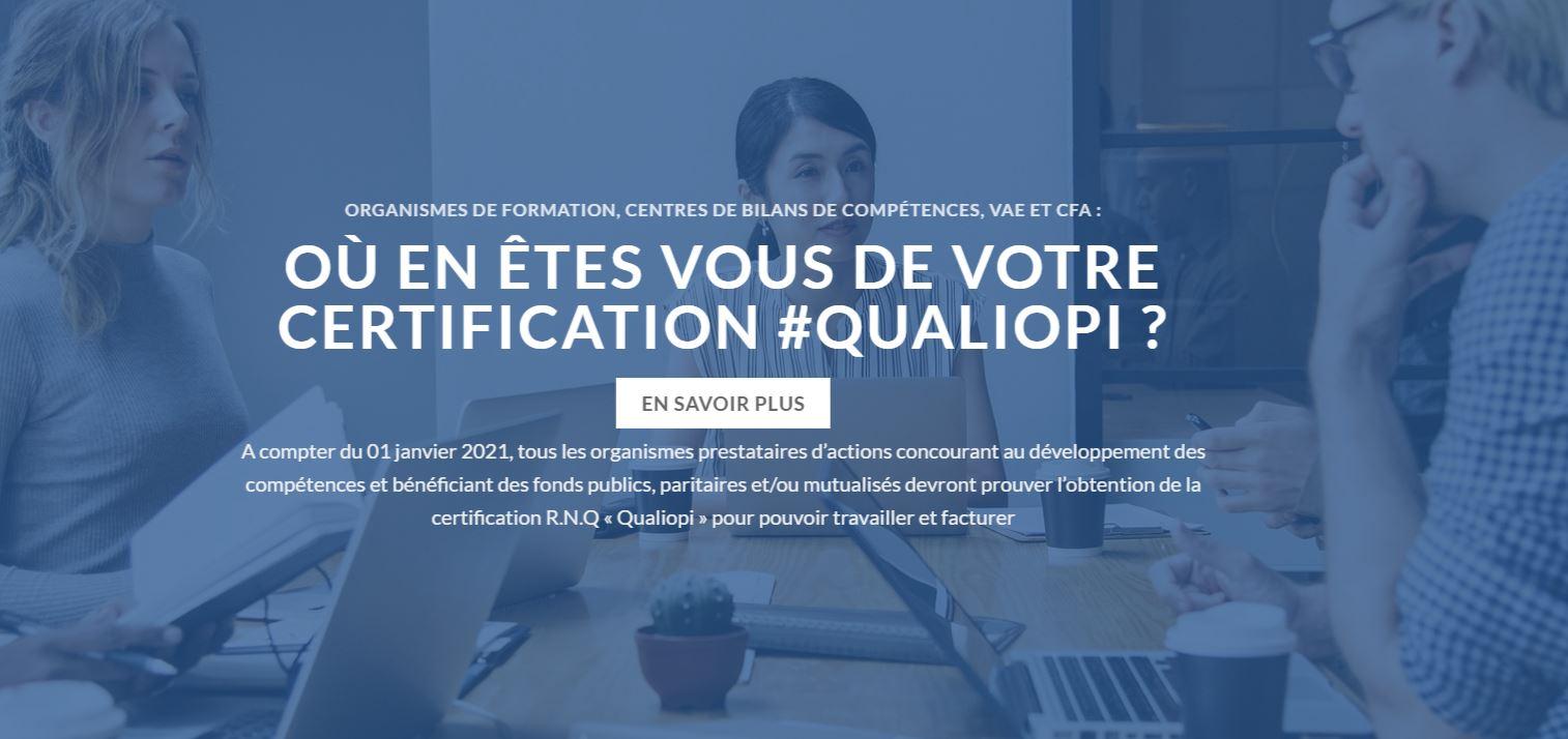 Préparation à l'obtention de la certification Qualiopi